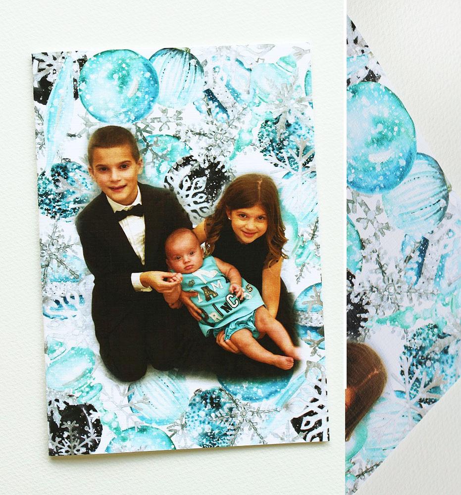 Watercolor Holiday Photo Card