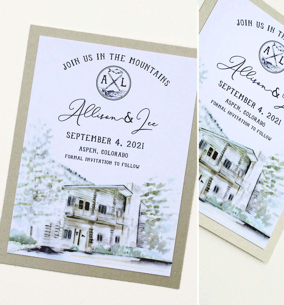 Hand Painted Save the Dates