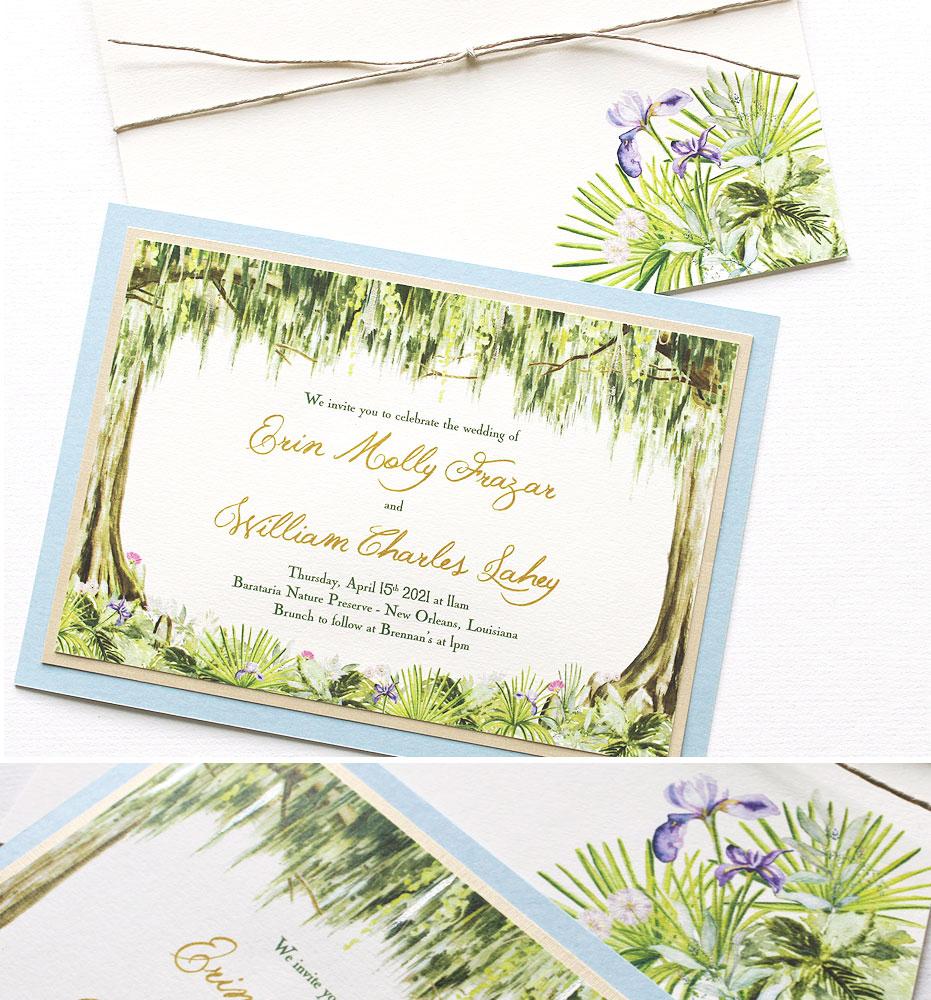 Watercolor Southern Wedding Invitations