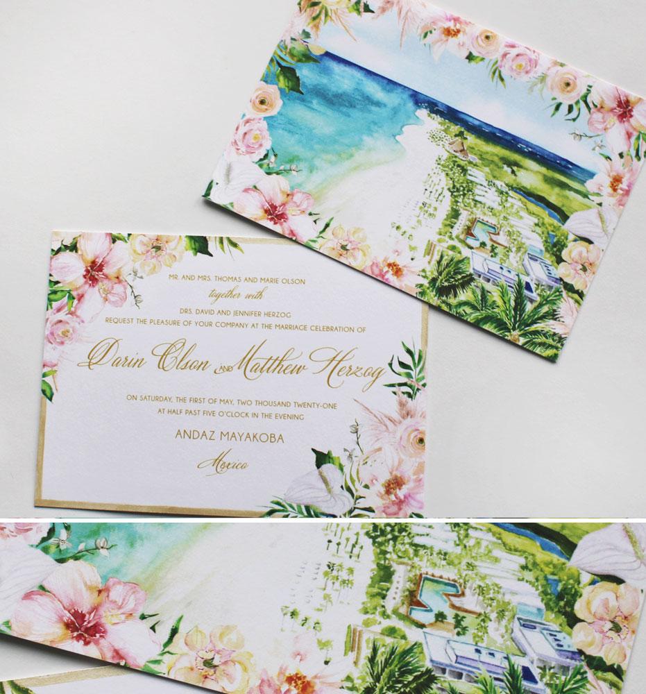 Andaz Mayakoba Wedding Invitations