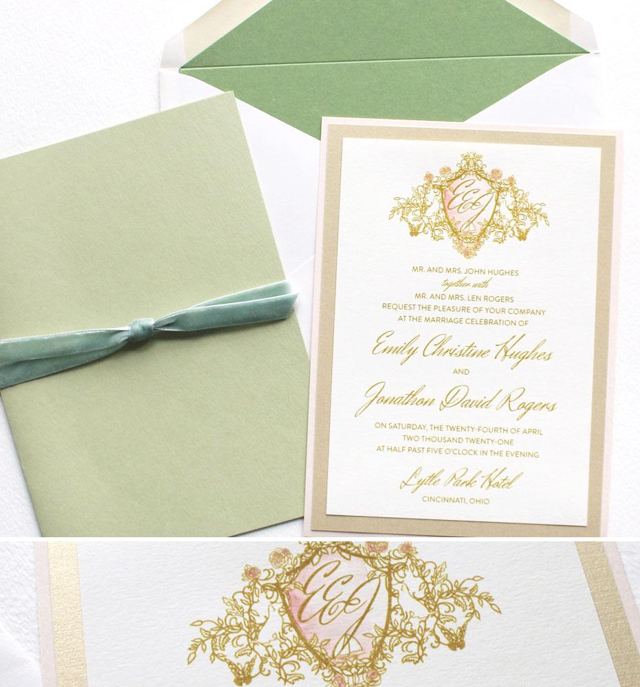 Monogram Wedding Invites
