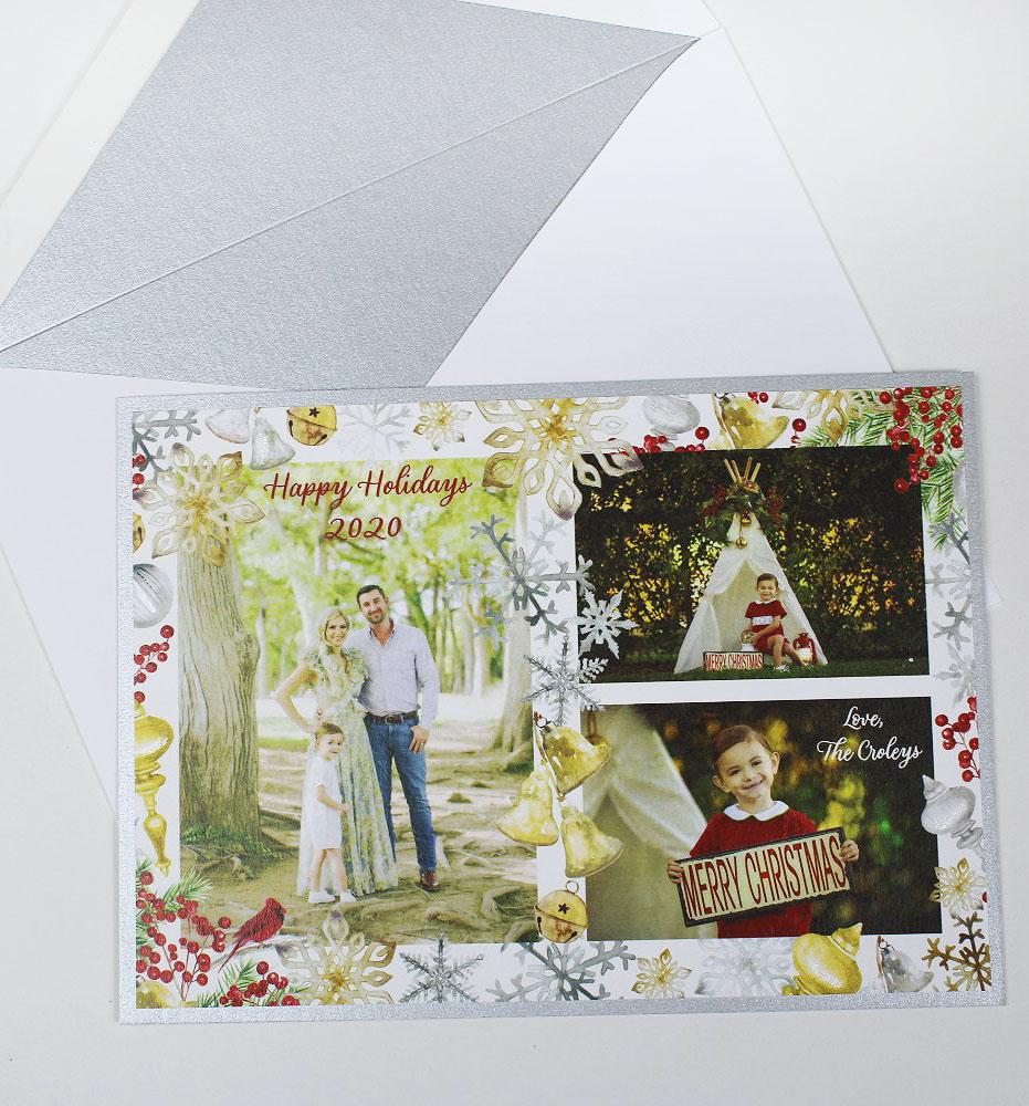 Custom Photo Family Christmas Card