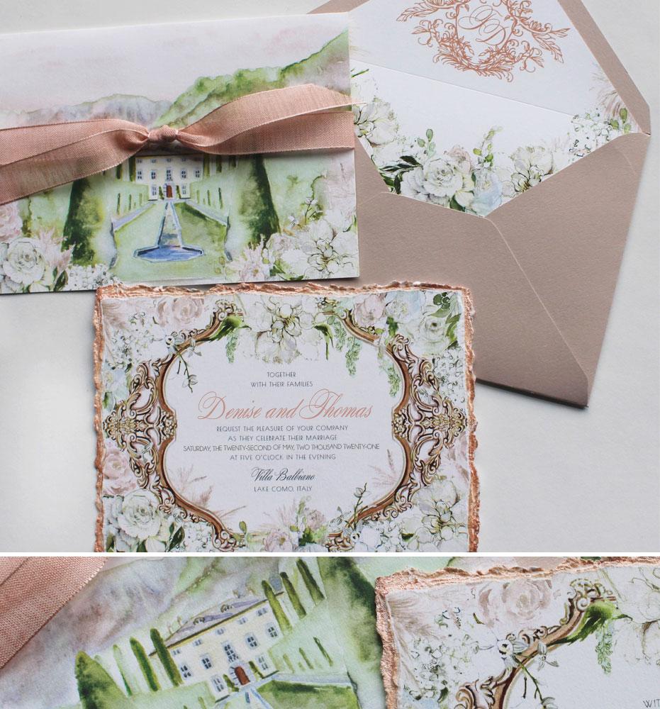 Villa Balbiano Wedding Invitations