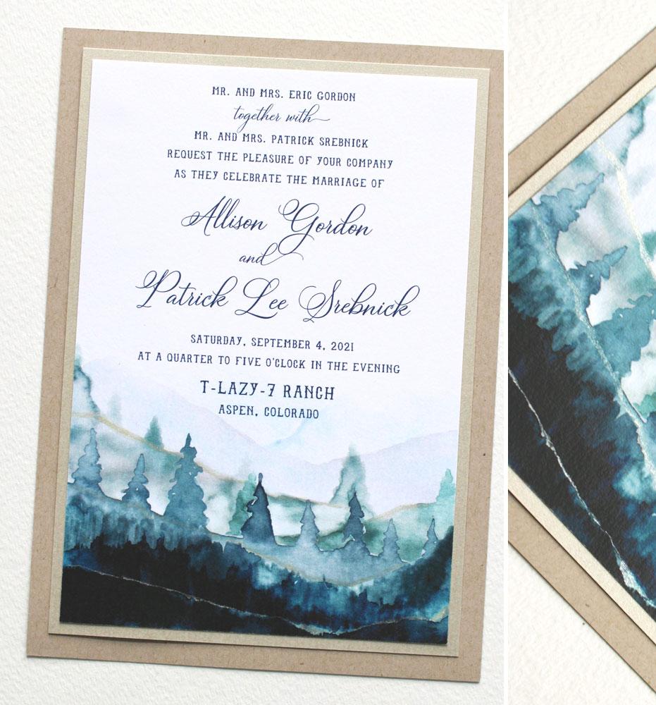 Colorado Wedding Invitations