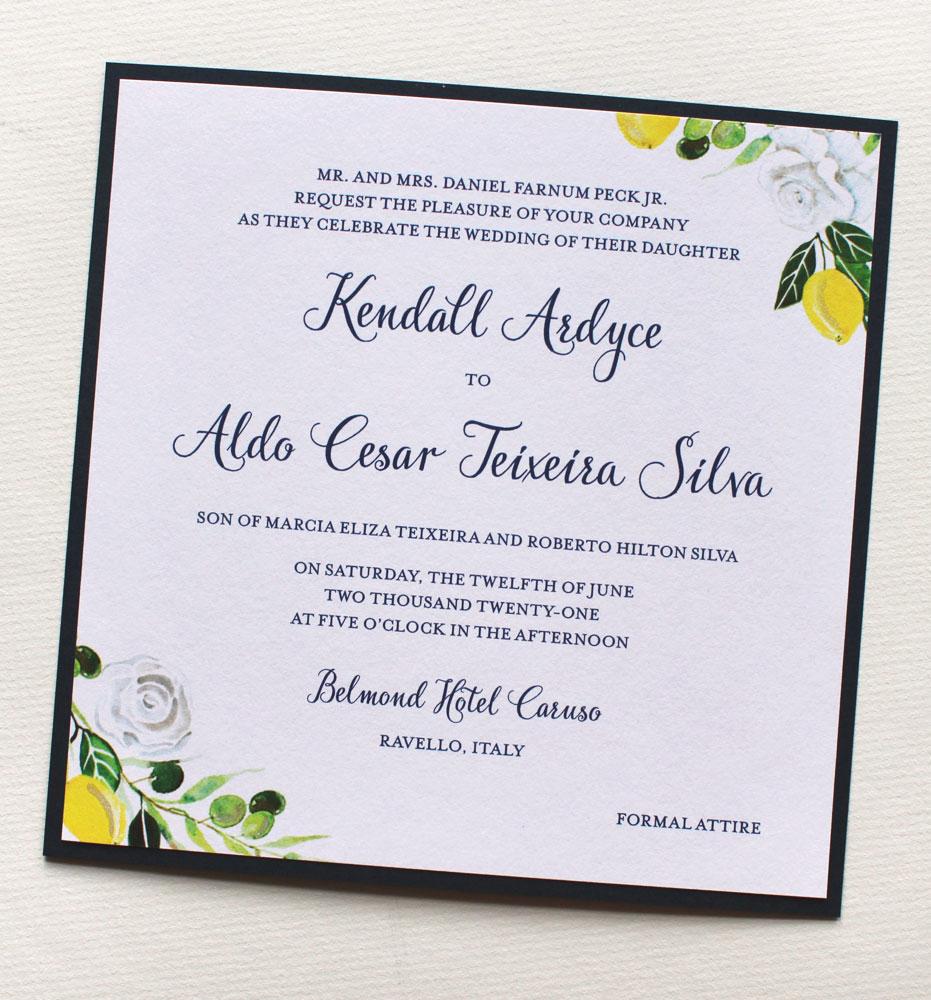 Belmond Hotel Caruso Wedding Invitations