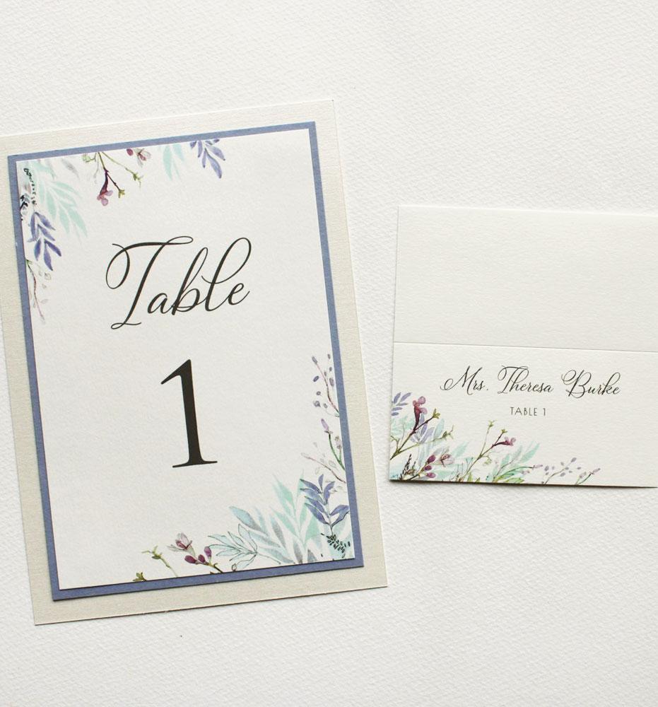 Custom Watercolor Wedding Seating Cards