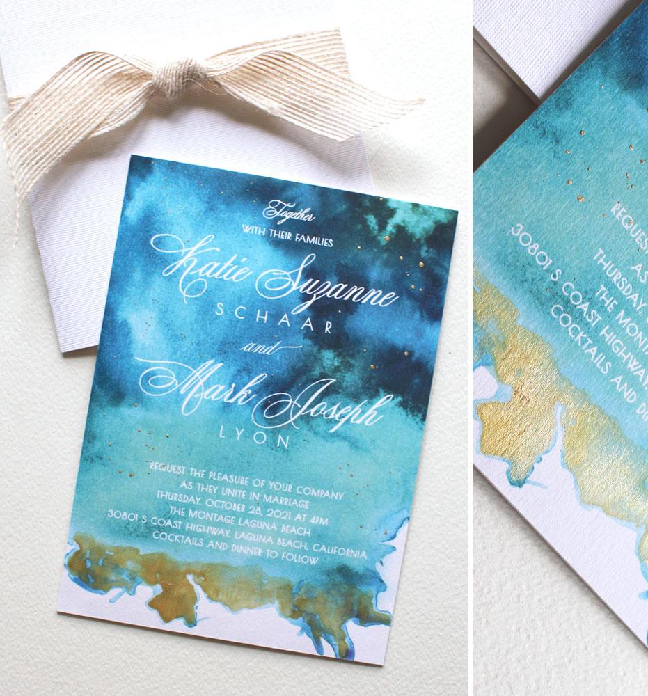 Watercolor Wash Wedding Invitations