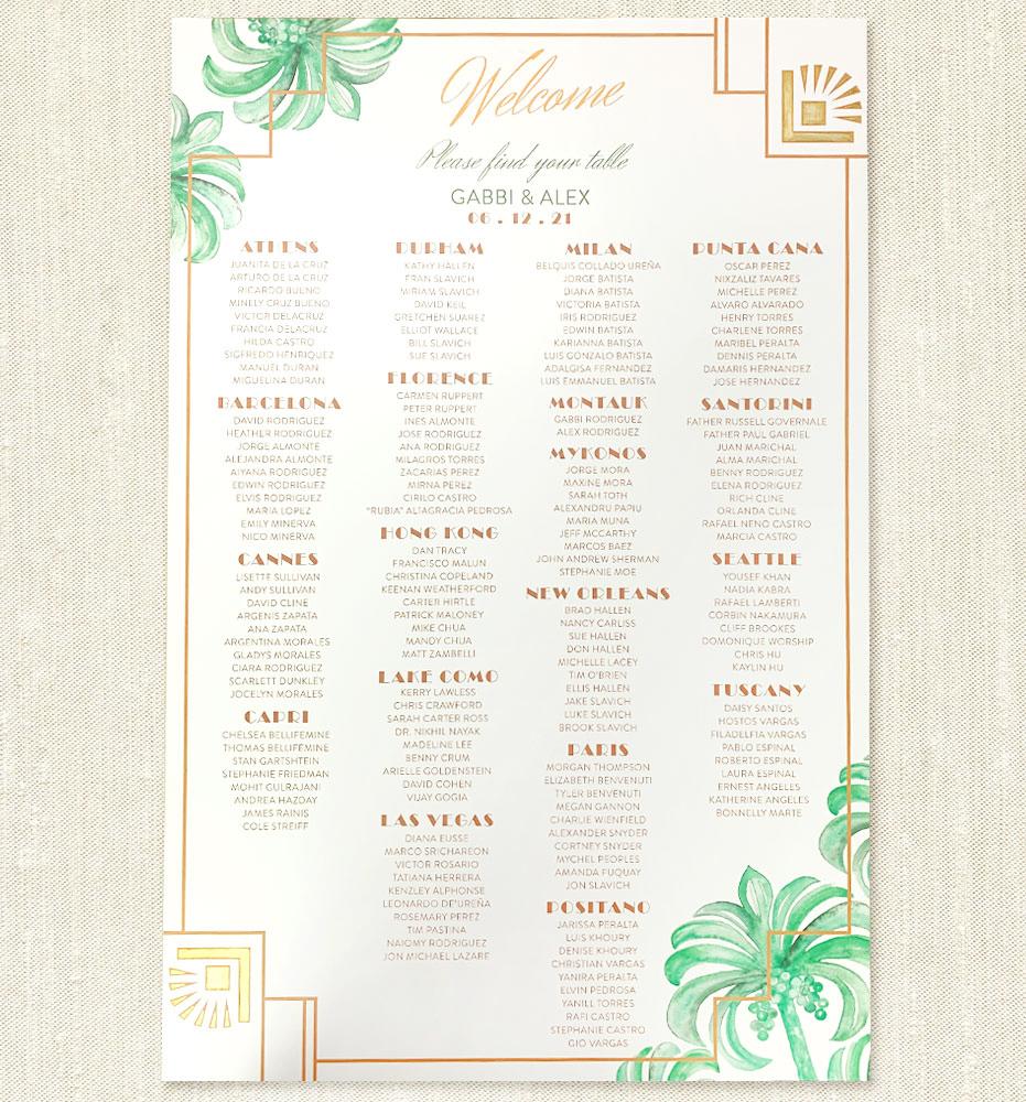 Digital Wedding Seating Chart File