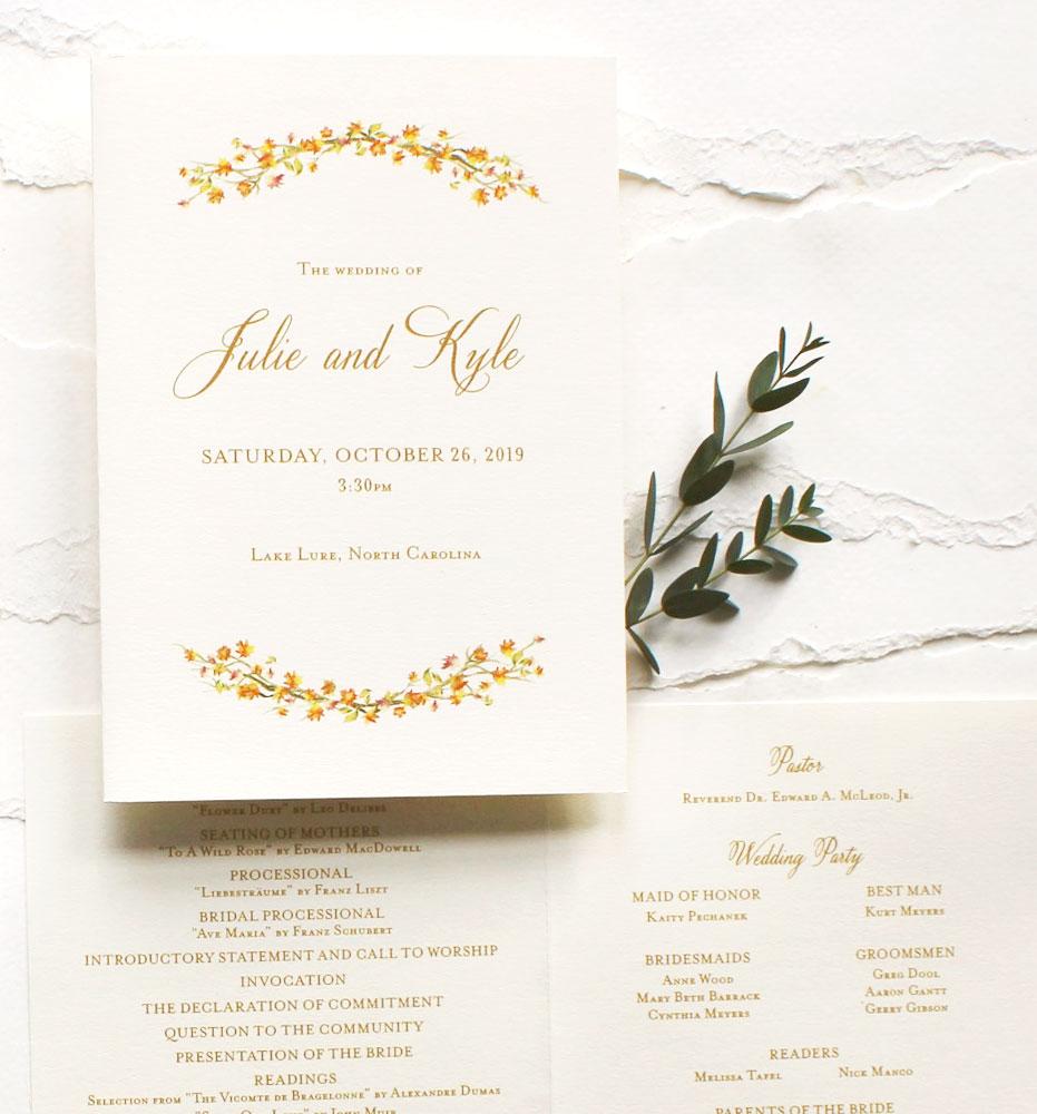 Watercolor Wedding Program