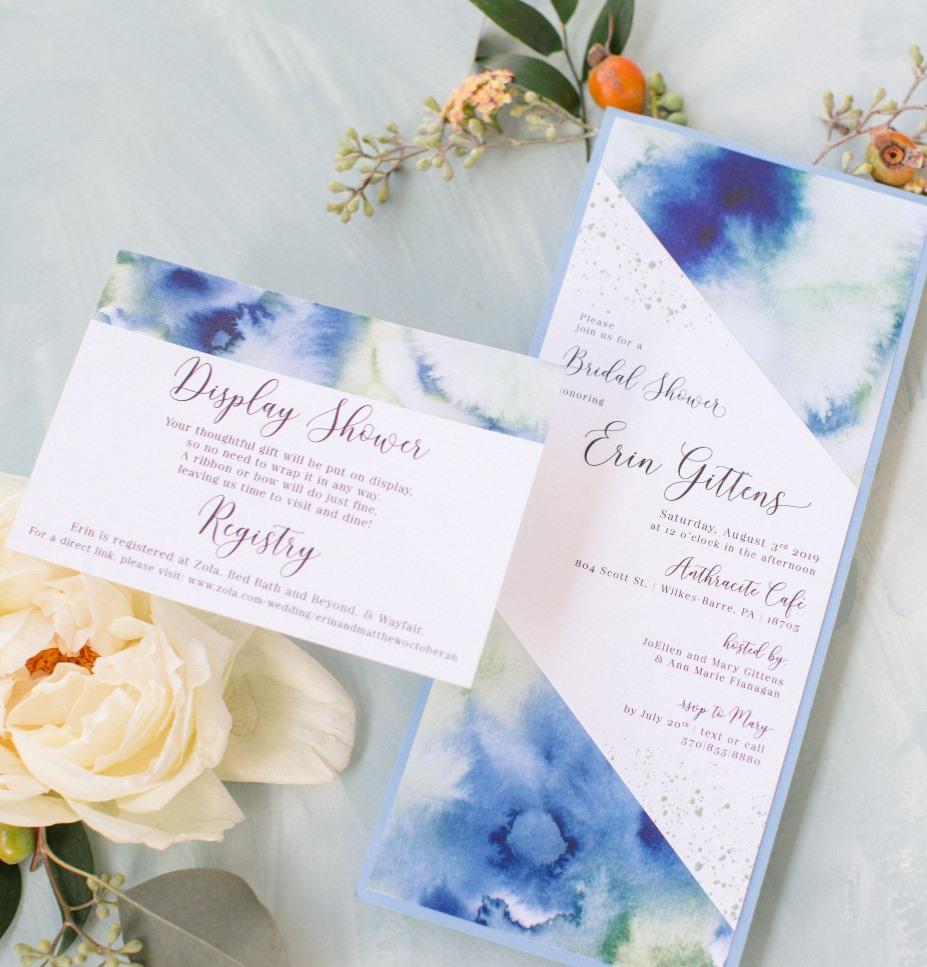 Watercolor Bridal Shower Invitations
