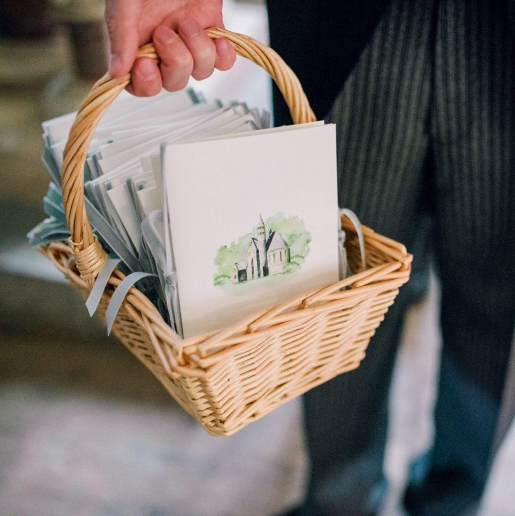 Custom Illustrated Wedding Ceremony Cards