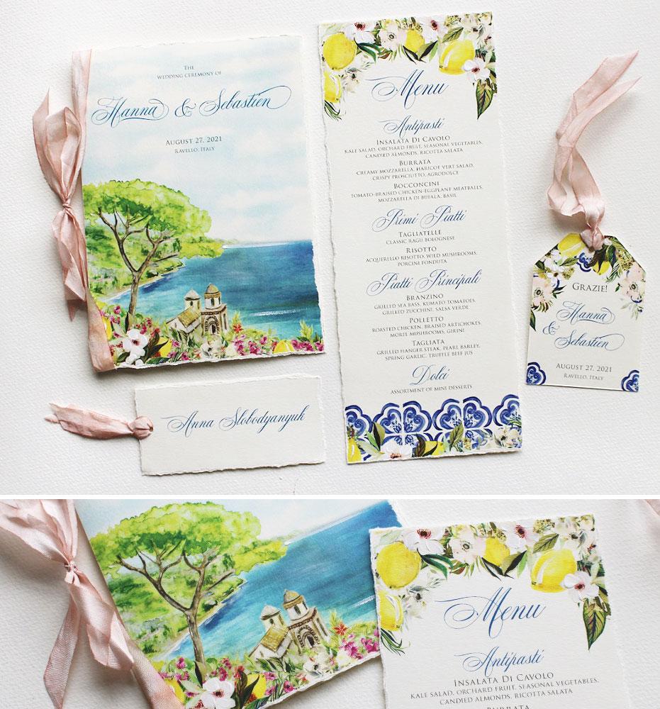 Ravello Italy Wedding Stationery