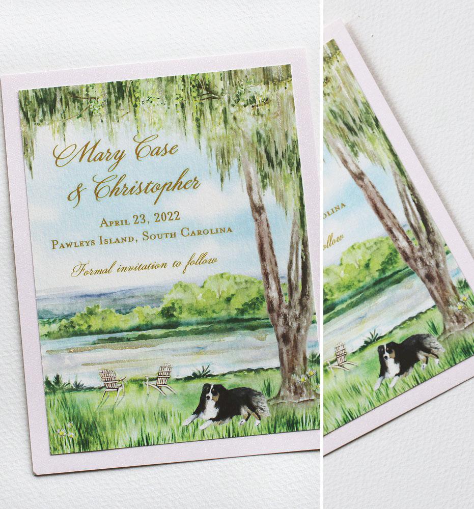 South Carolina Custom Wedding Save the Dates