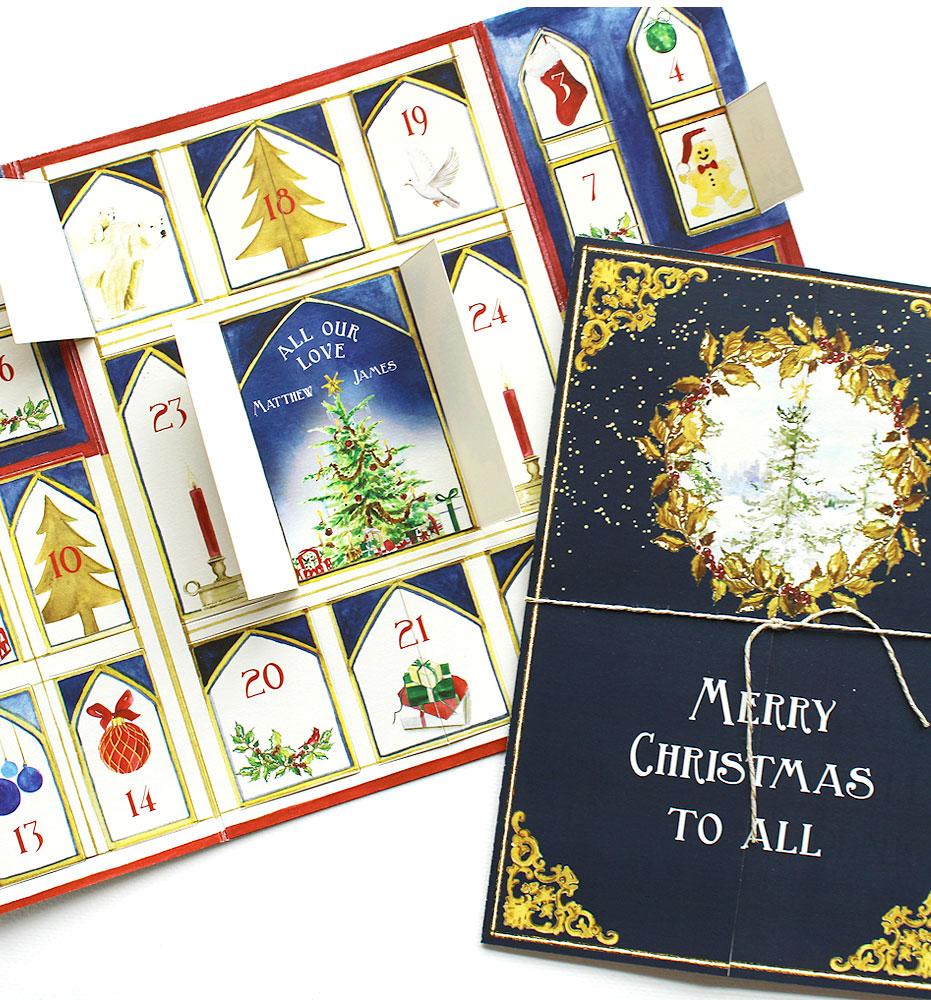 Advent Calendar Christmas Card