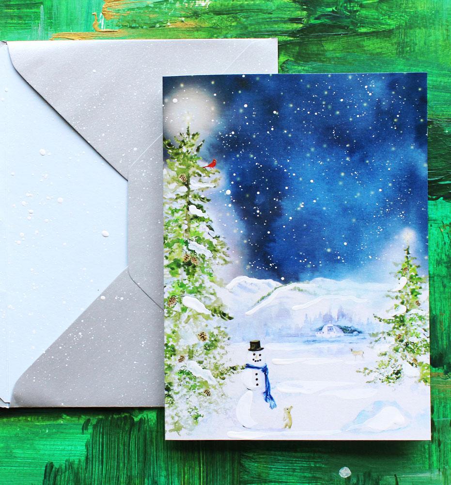 Custom Illustrated Christmas Cards