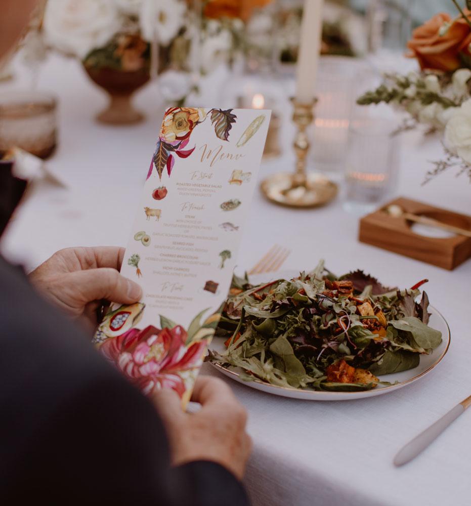 Custom Wedding Menus