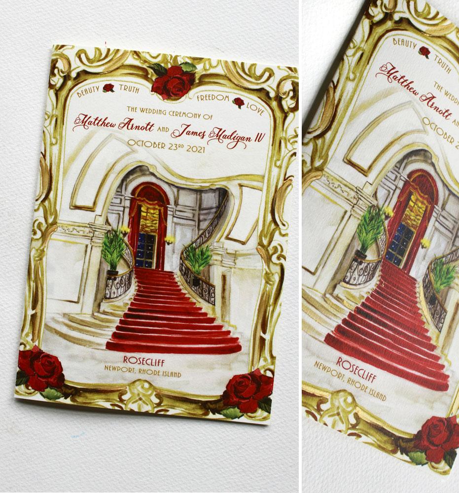 Rosecliff Wedding Program