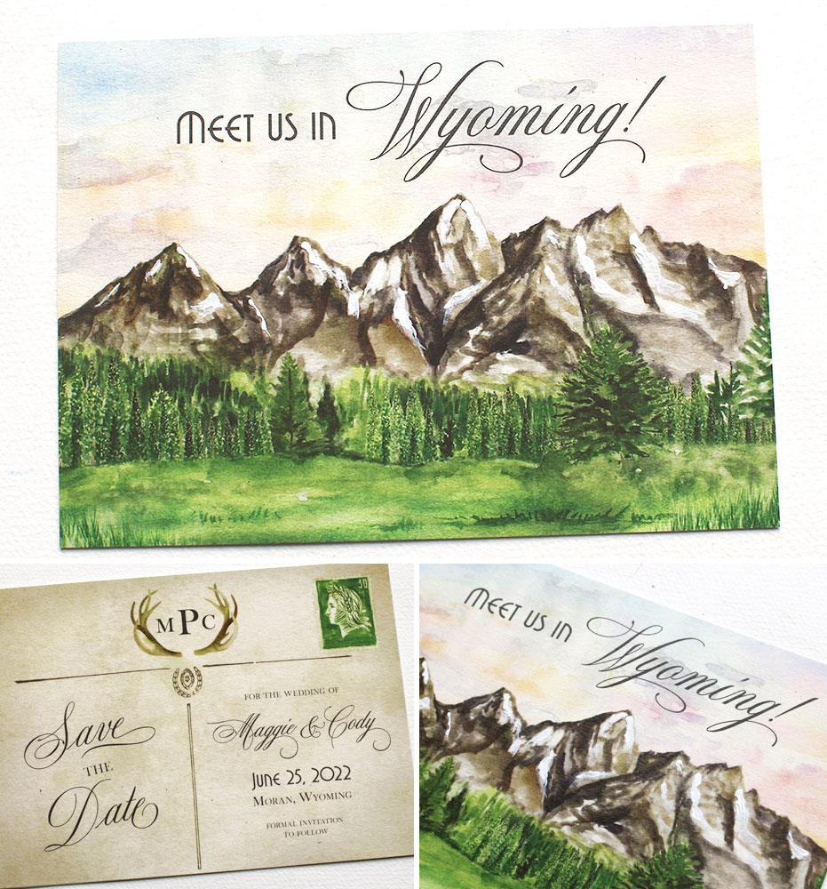 Watercolor Colorado Save the Date